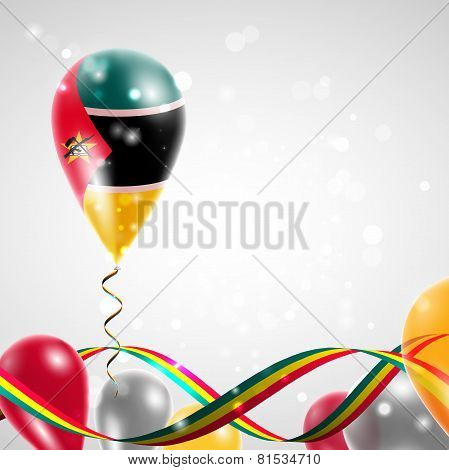 flag of Mozambique on balloon