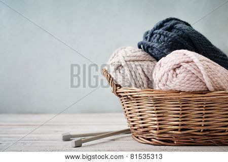 Wool Yarn In Coils