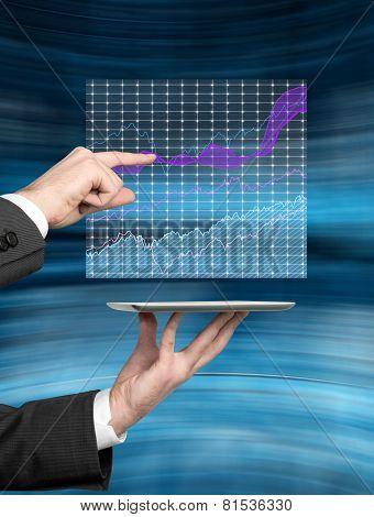 Hand Touching Stock Chart