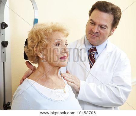 Senior Woman Neck Exercises