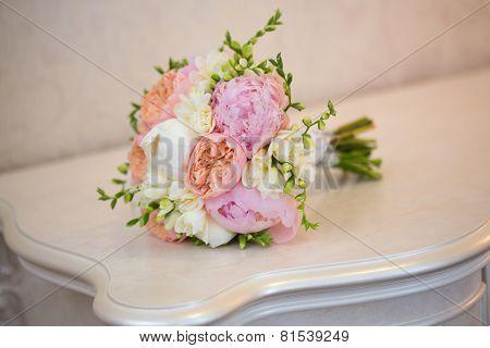 Bride's Bouquet on Table