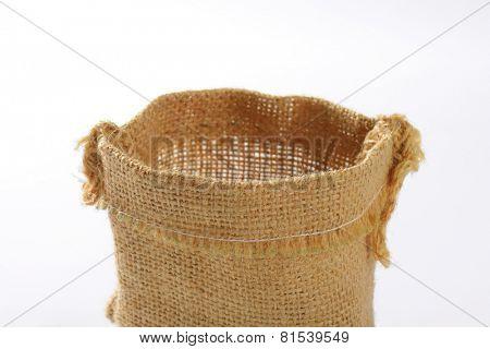 empty burlap bag
