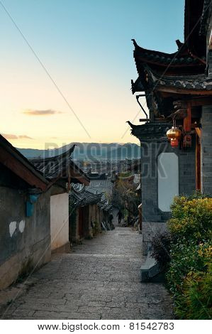 Old street view in Lijiang, Yunnan, China.