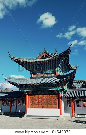 Mu Family Residence building in Lijiang, Yunnan, China.