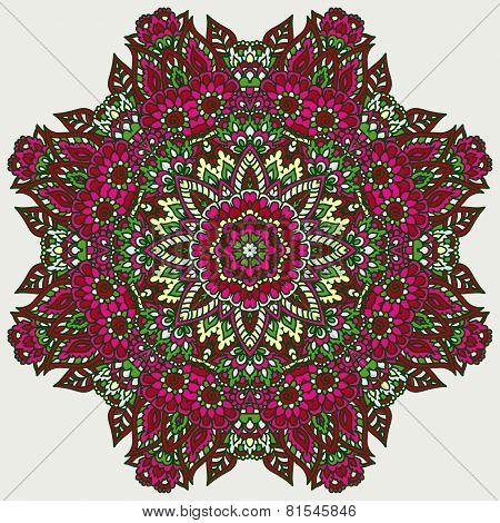 Doodle Floral Rosette