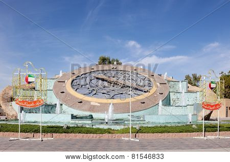 Giant Clock In The City Of Al Ain