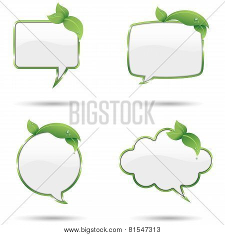 Leaf Speech Bubbles