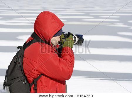 Photographer In Winter