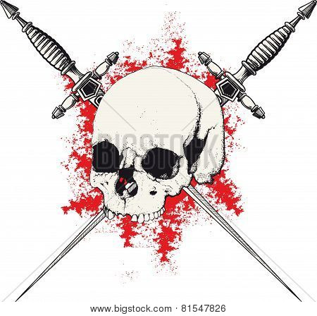 Skull and Dagger red