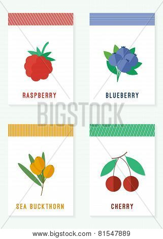 Cards With Fresh Berries