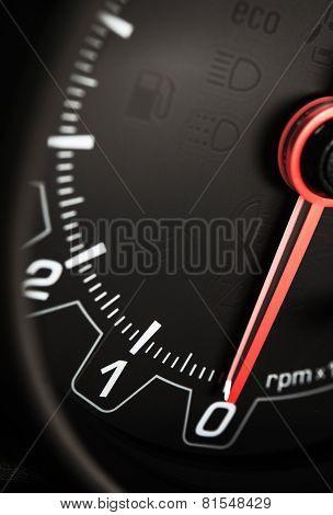 Black Car Tachometer