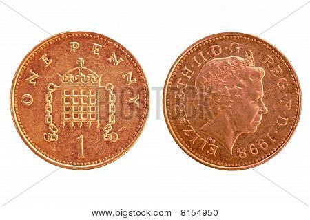 Uk penny - isolated