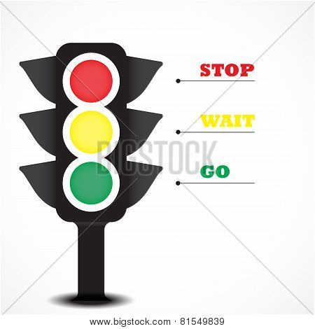 Traffic Light Symbol.