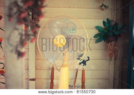 Electric Fan In Garden