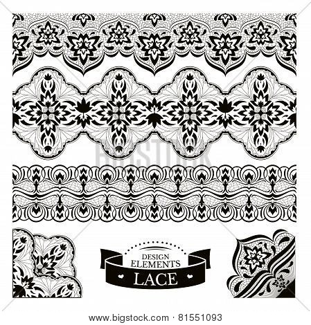 Set Of Lace Patterns