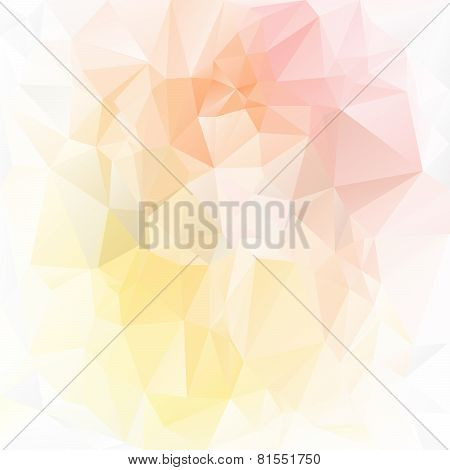 Vector Polygonal Background Pattern - Triangular Design In Light Spring