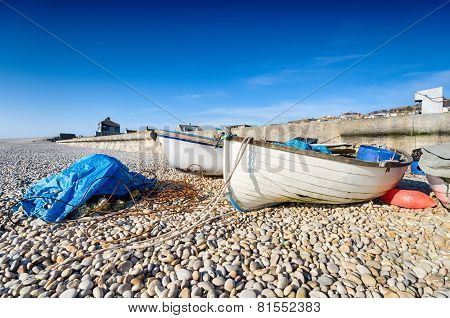 Fishing Boats At Chesil Cove