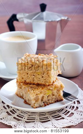 Squares Of Apple Coffee Cake