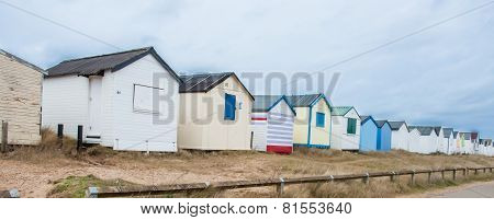 Winter Beach Huts