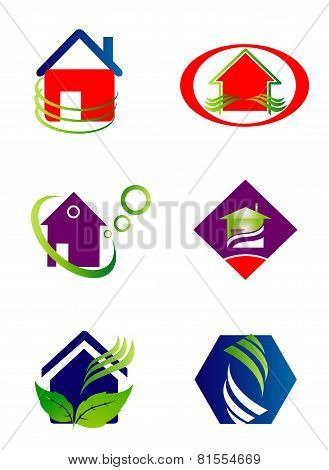 Collection of house and home logo