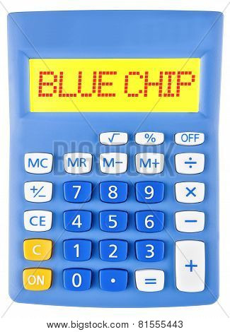 Calculator With Blue Chip