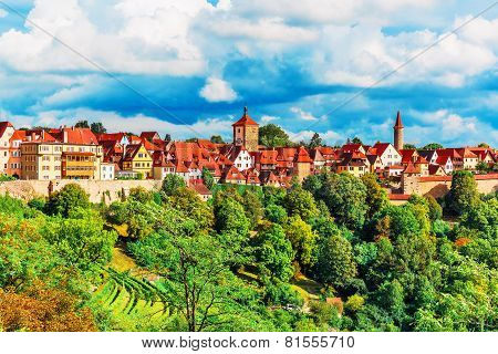 Panorama of Rothenburg ob der Tauber, Germany