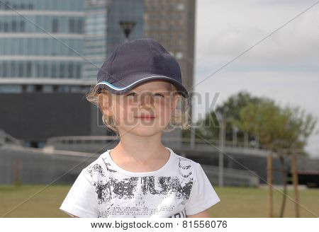 Playful Portrait Of The Little Girl