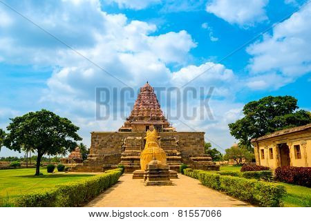 Entrance In Hindu Temple Dedicated To Shiva, Ancient Gangaikonda Cholapuram Temple,  India, Tamil Na