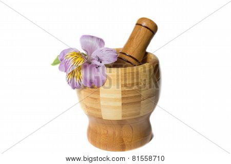 Wooden bamboo pounder