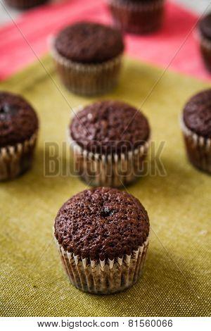 Mini Chocolate Brownie Cupcakes