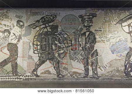 Naples Subway, Toledo Station mosaic
