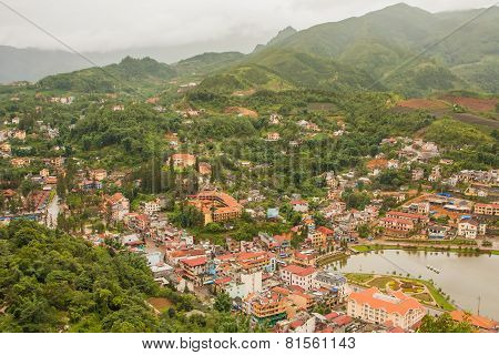 The City Center Of Sapa Village, Lao Cai Provice, Vietnam.