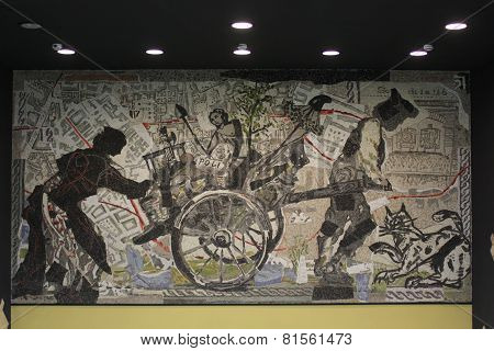 Naples Subway, Toledo Station Mosaic Art
