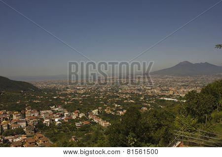 Landscape View Of The Vesuvio, Naples