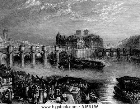 Pont-neuf Bridge Paris