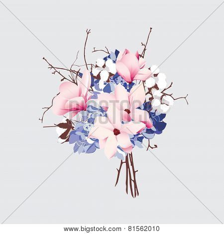 French style vector bouquet