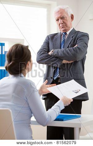 Dissatisfied Employer