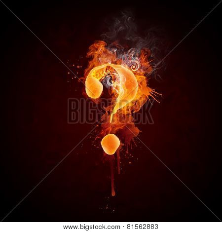 Fire Swirl Question Mark