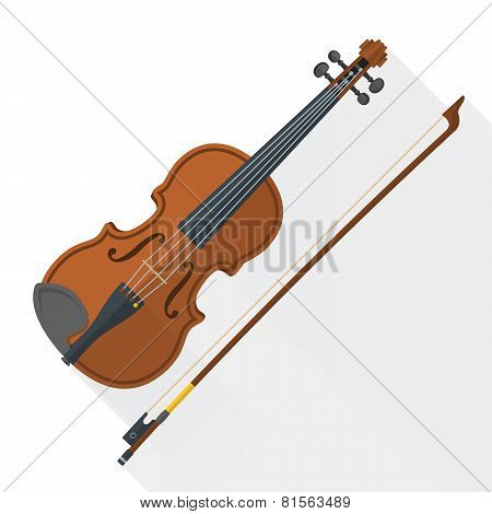 color flat style vector fiddle violin