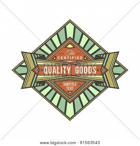 abstract colored retro vector badge label