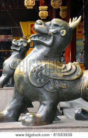 Lion Sculpture Shanghai