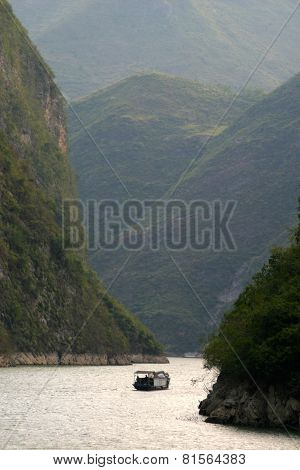 A Lot Of Mountain Scenery At Yangtze River