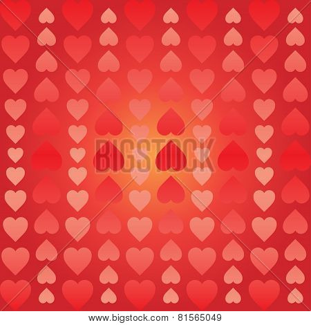 Abstract Background Of Hearts Arranged Vertically