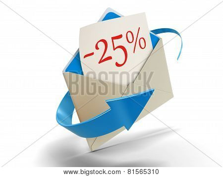 Letter -25% (clipping path included)