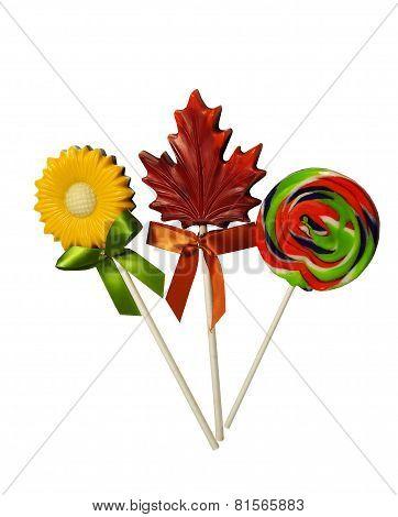 Three delicious Lollipops