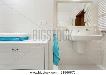 Shelf In Luxury Bathroom