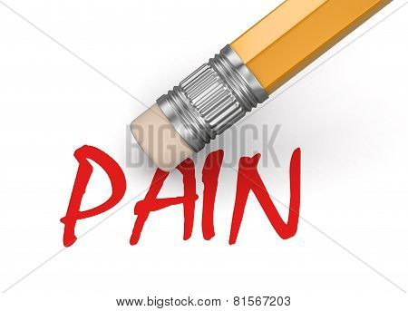 Erase Pain (clipping path included)