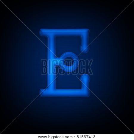 Neon Letter E