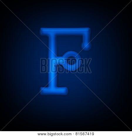 Neon Letter F
