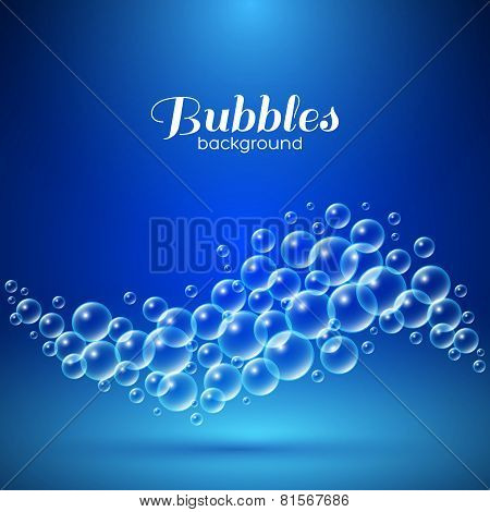 Wave of air bubbles